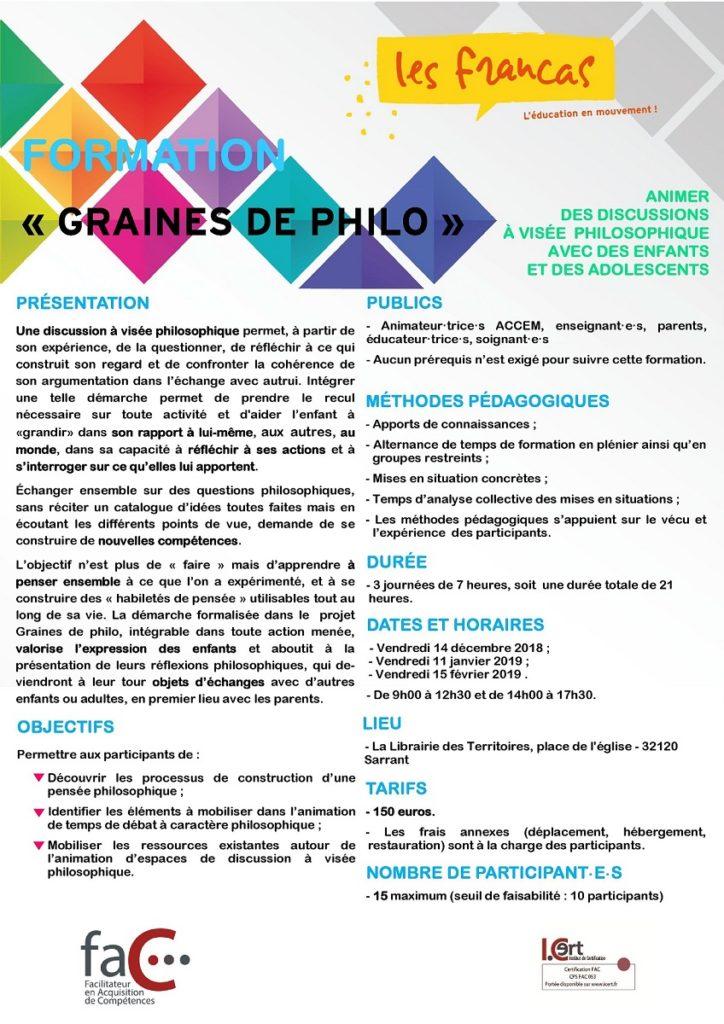 Plaquette Fo Cont Graine De Philo AD 32 01